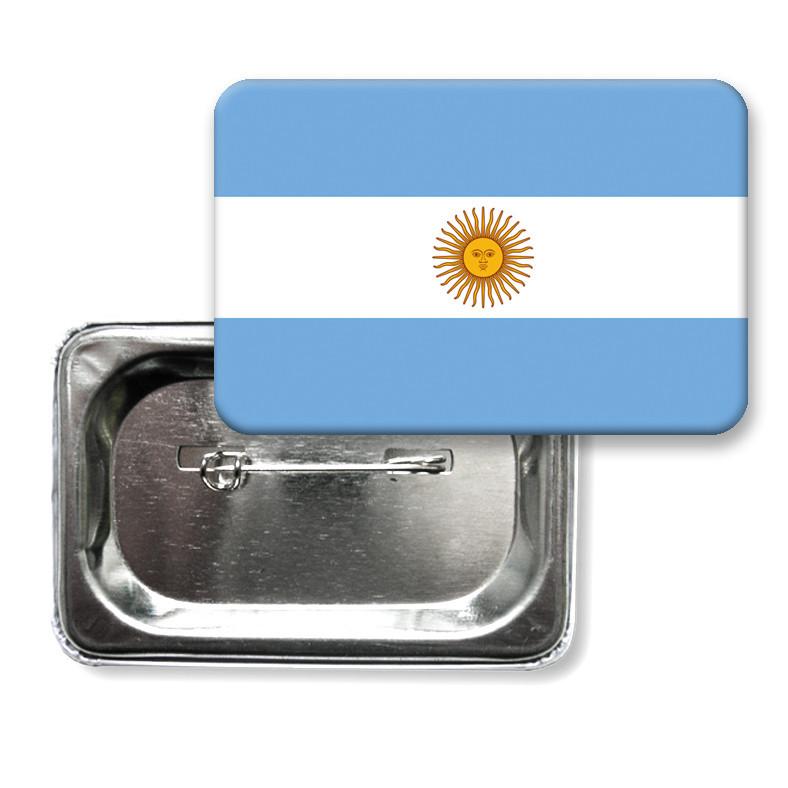 """Закатной значок """"Флаг Аргентины"""""""