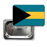 """Закатной значок """"Флаг Багамские острова"""""""