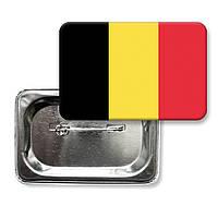 """Закатной значок """"Флаг Бельгии"""""""