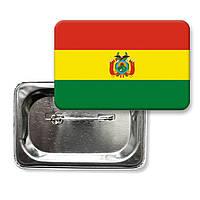 "Закатной значок ""Флаг Боливии"""