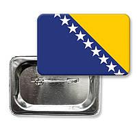 "Закатной значок ""Флаг Боснии и Герцоговины"""