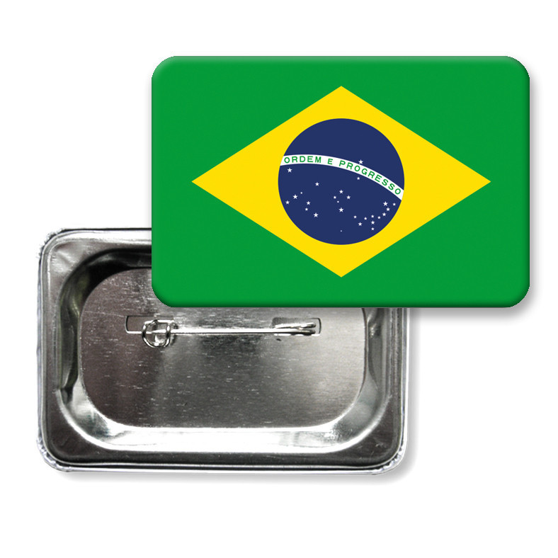 """Закатной значок """"Флаг Бразилии"""""""