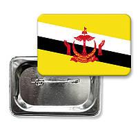 """Закатной значок """"Флаг Брунея"""""""