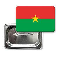 "Закатной значок ""Флаг Буркина Фасо"""