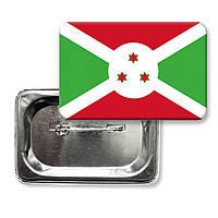 "Закатной значок ""Флаг Бурунди"""
