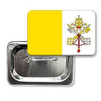"Закатной значок ""Флаг Ватикана"""