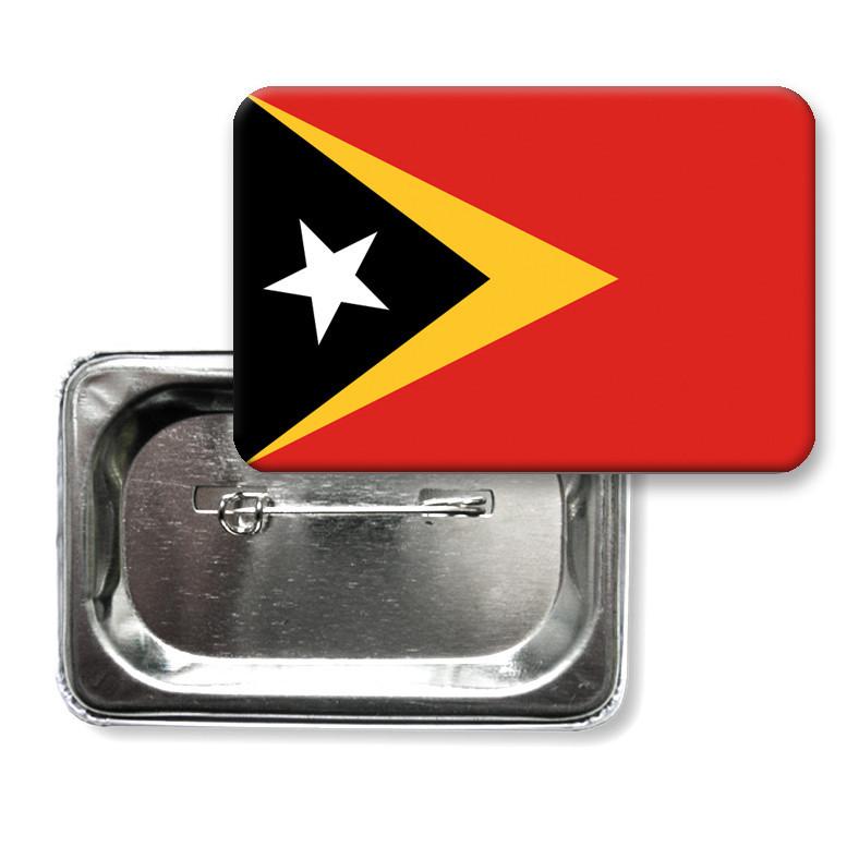 """Закатной значок """"Флаг Восточного Тимора"""""""
