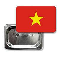 "Закатної значок ""Прапор В'єтнаму"""