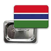 "Закатной значок ""Флаг Гамбии"""