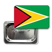 "Закатной значок ""Флаг Гайаны"""