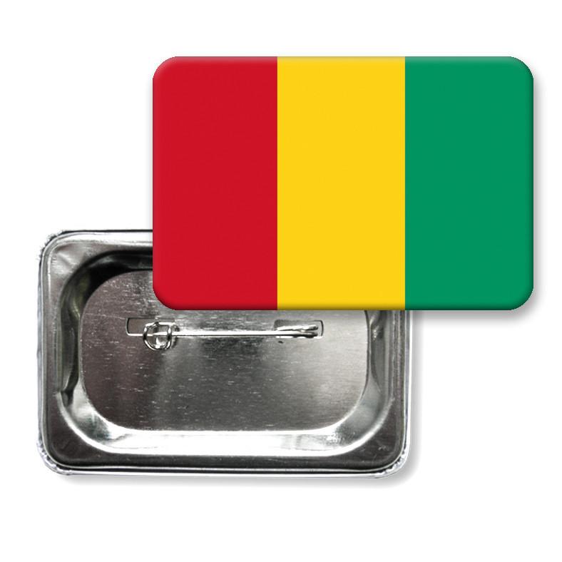 """Закатной значок """"Флаг Гвинеи"""""""