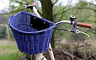 Кошик на КЛІК із лози темно-синій Польща, фото 4