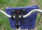 Кошик на КЛІК із лози темно-синій Польща, фото 5