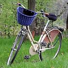 Кошик на КЛІК із лози темно-синій Польща, фото 6