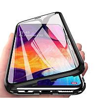 Magnetic case Full Glass 360 (магнитный чехол) для Samsung Galaxy A8 Plus 2018