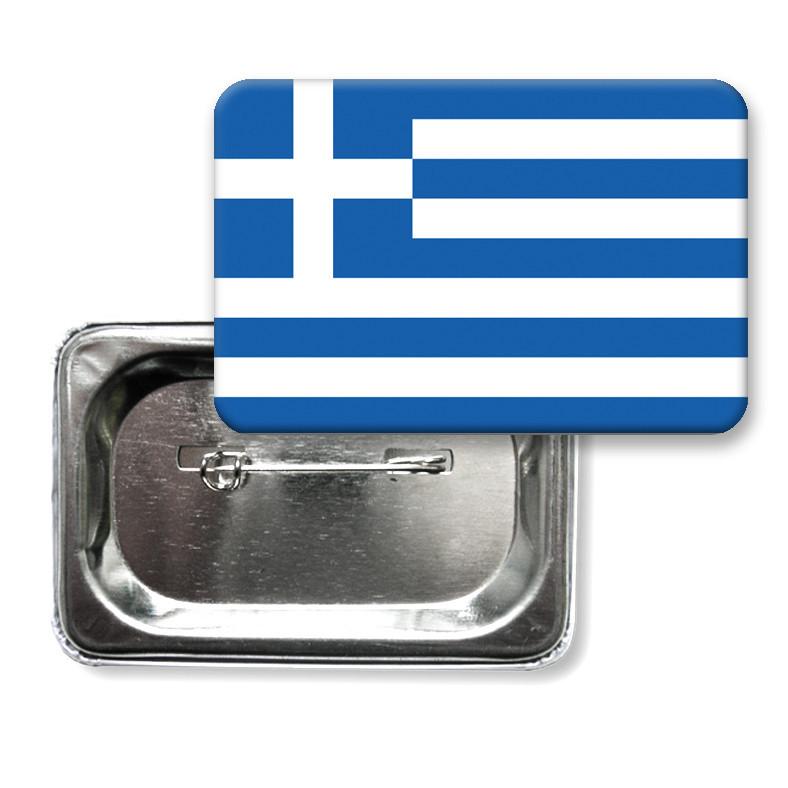 """Закатной значок """"Флаг Греции"""""""