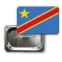 """Закатной значок """"Флаг Демократической республики Конго"""""""