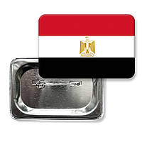 """Закатной значок """"Флаг Египта"""""""