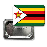 "Закатной значок ""Флаг Зимбабве"""