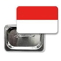 """Закатной значок """"Флаг Индонезии"""""""