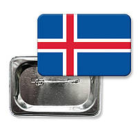 """Закатной значок """"Флаг Исландии"""""""