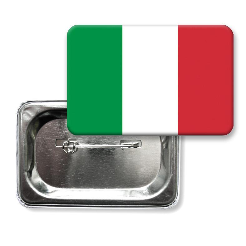 """Закатной значок """"Флаг Италии"""""""