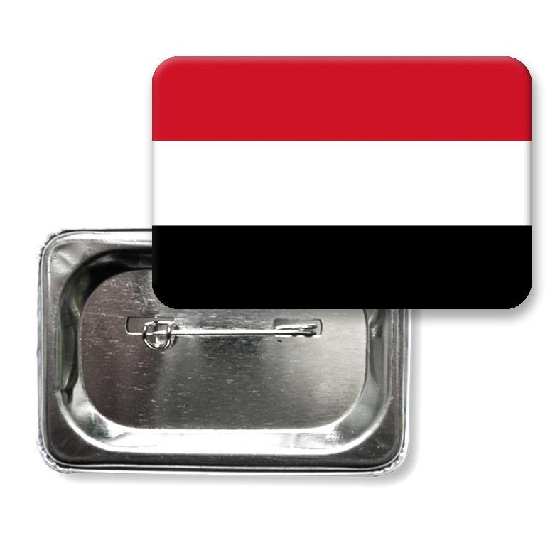 """Закатной значок """"Флаг Йемена"""""""