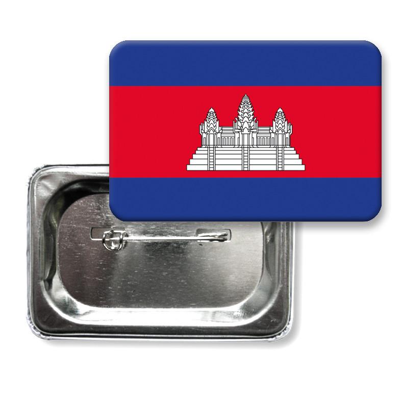 "Закатной значок ""Флаг Камбоджи"""