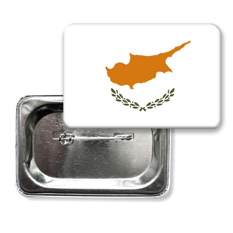 """Закатной значок """"Флаг Кипра"""""""