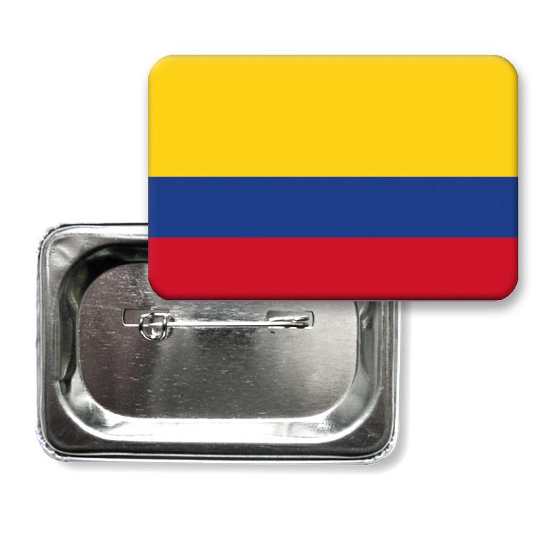 "Закатной значок ""Флаг Колумбии"""