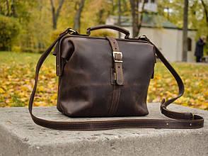 """Сумка-портфель на рамці шкіряна універсальна """"Classic"""""""