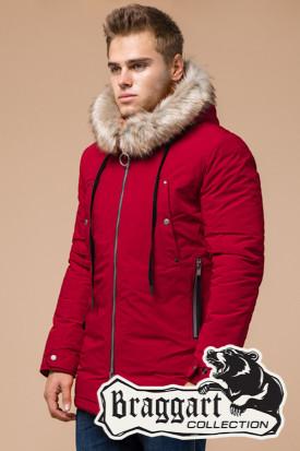 Мужская красная зимняя куртка (р. 46-56) арт. 15231G