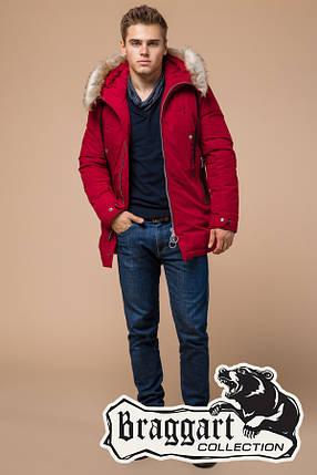 Мужская красная зимняя куртка (р. 46-56) арт. 15231G, фото 2
