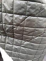 Стеганная ткань плащевка для пошива верхней одежды куртки жилетки ширина 150 см ромб цвет хаки