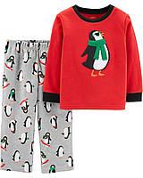Детская флисовая теплая пижамка Пингвинчик Картерс для мальчика