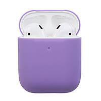 Чехол Airpods 2 Ultrathin Silicon case purple (in box), фото 1