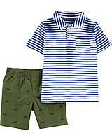 Детский летний костюм - шорты и футболка-поло Картерс для мальчика