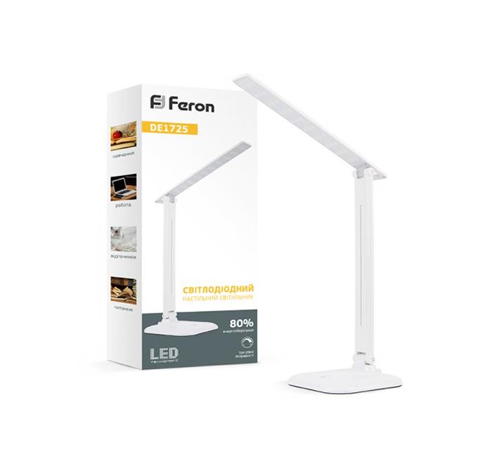 Лампа настольная Feron DE1725 6400K 9W