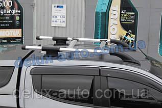 Рейлинги на крышу с перемычками на Митсубиси л200 2019+ Релинги с поперечинами в сборе на Mitsubishi L200