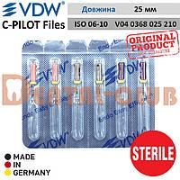 Ц-Пілот файли стерильні ВДВ (VDW STERILE C-PILOT Files)  у блістері по 6шт. L25mm, ISO №06-10 асорті