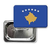 "Закатной значок ""Флаг Косово"""