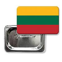 """Закатной значок """"Флаг Литвы"""""""