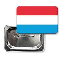"""Закатной значок """"Флаг Люксембурга"""""""