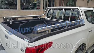 Защита кузова Ролл-бар на пикап для Mitsubishi L200 2019+ Задняя дуга в кузов RollBar на Митсубиси л200 2019+
