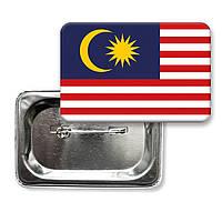 """Закатной значок """"Флаг Малайзии"""""""