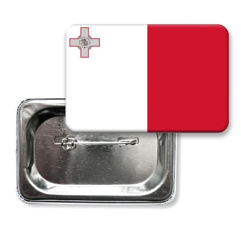 """Закатной значок """"Флаг Мальты"""""""