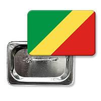 """Значок """"Прапор Республіки Конго"""""""
