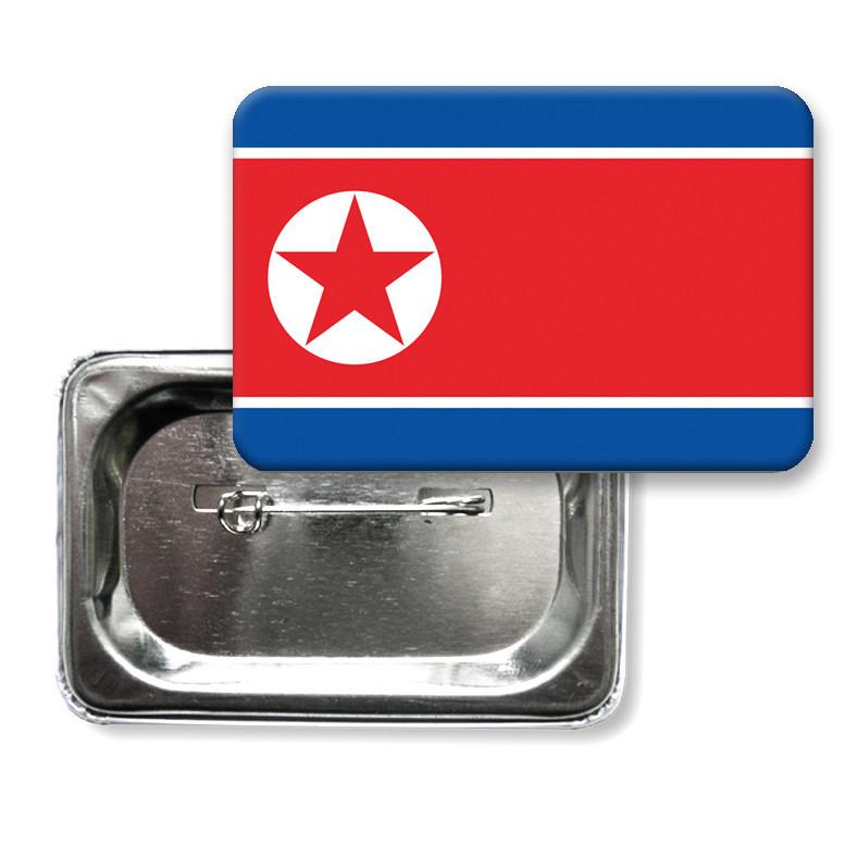 "Значок ""Флаг Северная Корея"""