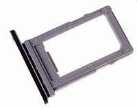 Лоток для Sim-карты для LG M700A Q6 Dual Sim, черный, на вторую Sim- карту