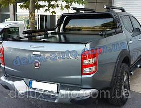 Защита кузова Ролл-бар на пикап для Mitsubishi L200 2019+ Дуга в кузов черная RollBar на Митсубиси л200 2019+